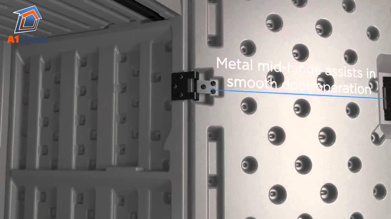suncast uk mega tall storage cabinet - youtube