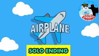 *NEW* SOLO ENDING!!! | Roblox Airplane Story