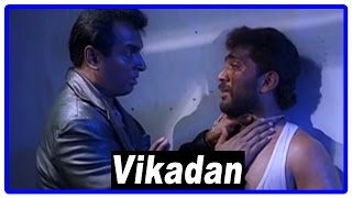 Vikadan Tamil Movie   Scenes   Arun Pandian interrogates watchman   Harish Raghavendra