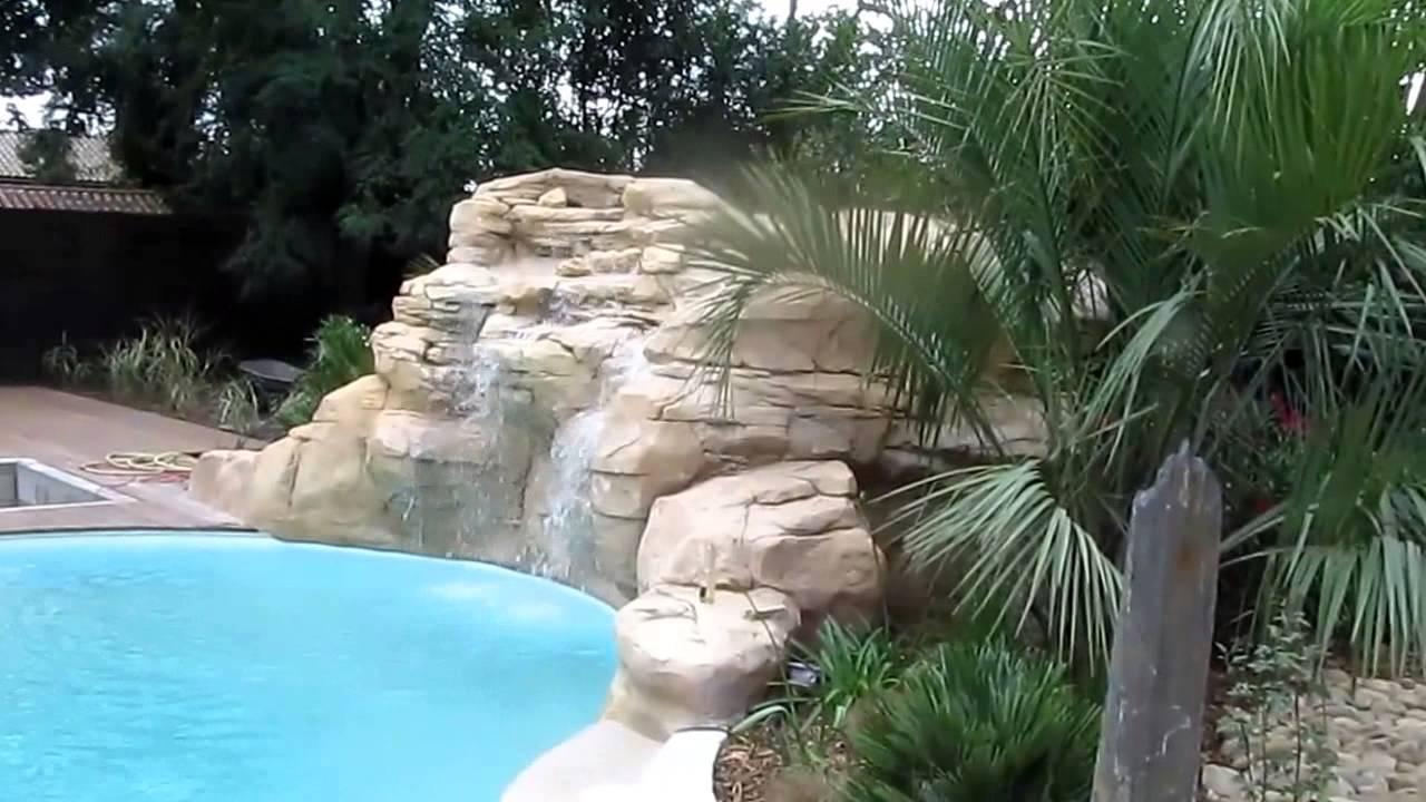 Copie de decor piscine faux rochers roc decor for Decor rocher piscine