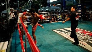 Nicolas Nuñez(chile-rojo) Vs Sing Tyger Muay Thai(thailand-azul) Mbk Fight Night, Bangkok 2013