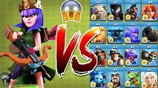 Max Archer Queen vs All Troops - Clash of clans | Level 45 Archer Queen