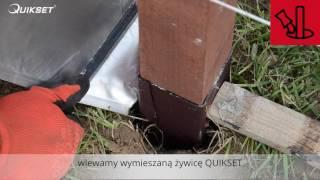 Montaż ogrodzenia drewnianego w technologii szybkiego montażu QUIKSET