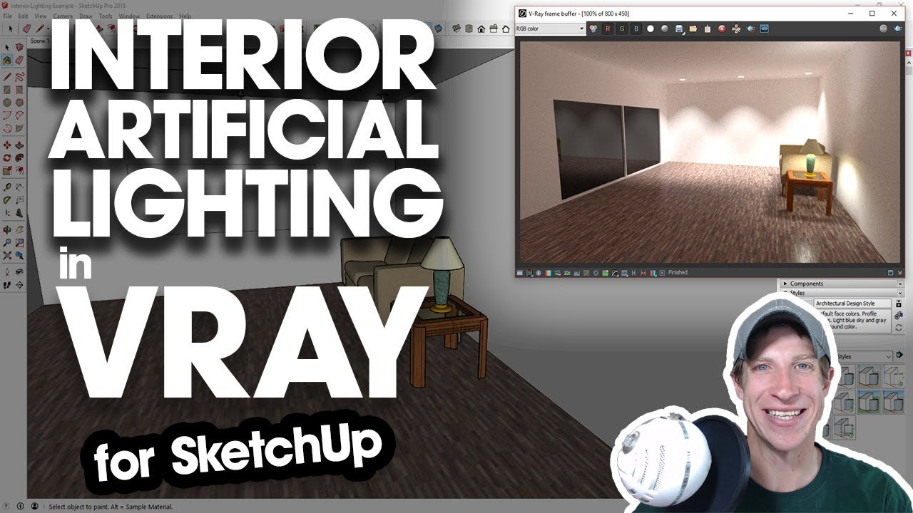Intro to Interior Lighting in Vray - Using Artificial