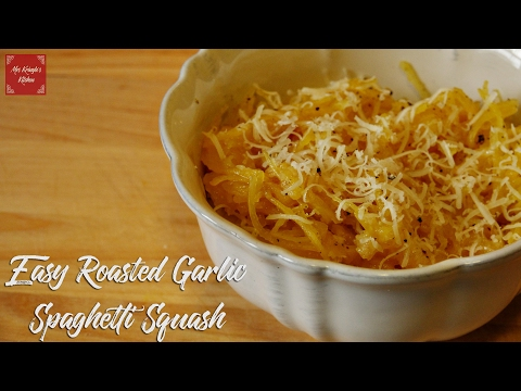 EASY Roasted Garlic Spaghetti Squash | (Easy Cheat Included!)