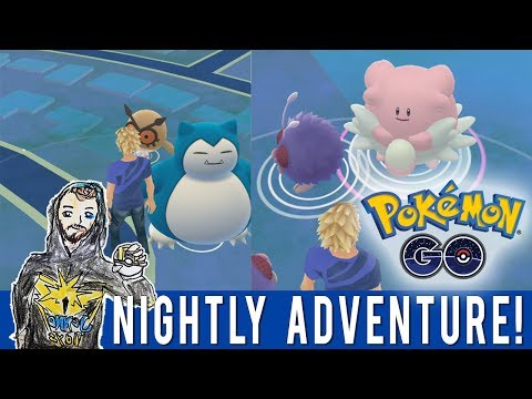 Pokemon GO Nightly Adventure with New Sacramento Twitter Scanner! Wild Snorlax! Wild Blissey!