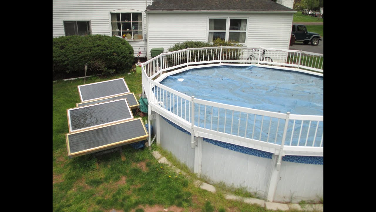 Custom Built Swimming Pool Solar Panel Water Heater