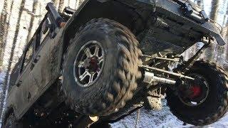 УАЗ на вояках с редукторами трактора т-40 Летающие УАЗы в зимнем лесу, очень интересный маршрут!!!