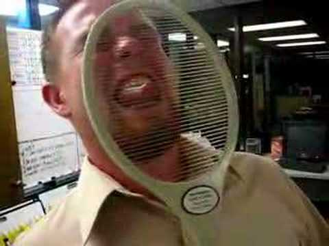 Man Gets Hit With Electric Fly Swatter Youtube