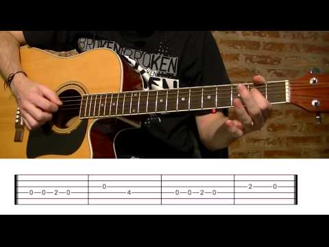 How To Play Happy Birthday: Acoustic Guitar Lesson with Tabs! TCDG