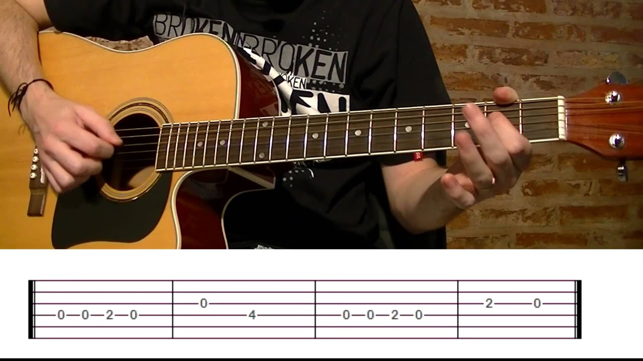 How To Play Happy Birthday Acoustic Guitar Lesson With Tabs Tcdg