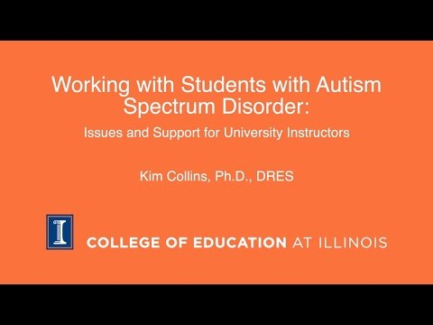 Working with Students with Autism Spectrum Disorder