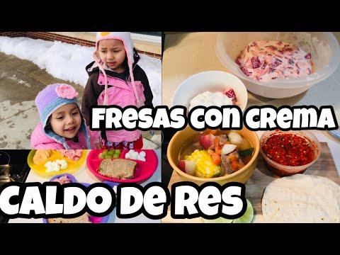 COCINA CONMIGO! IDEAS PARA LA CENA | CALDO DE RES Y FRESAS CON CREMA!
