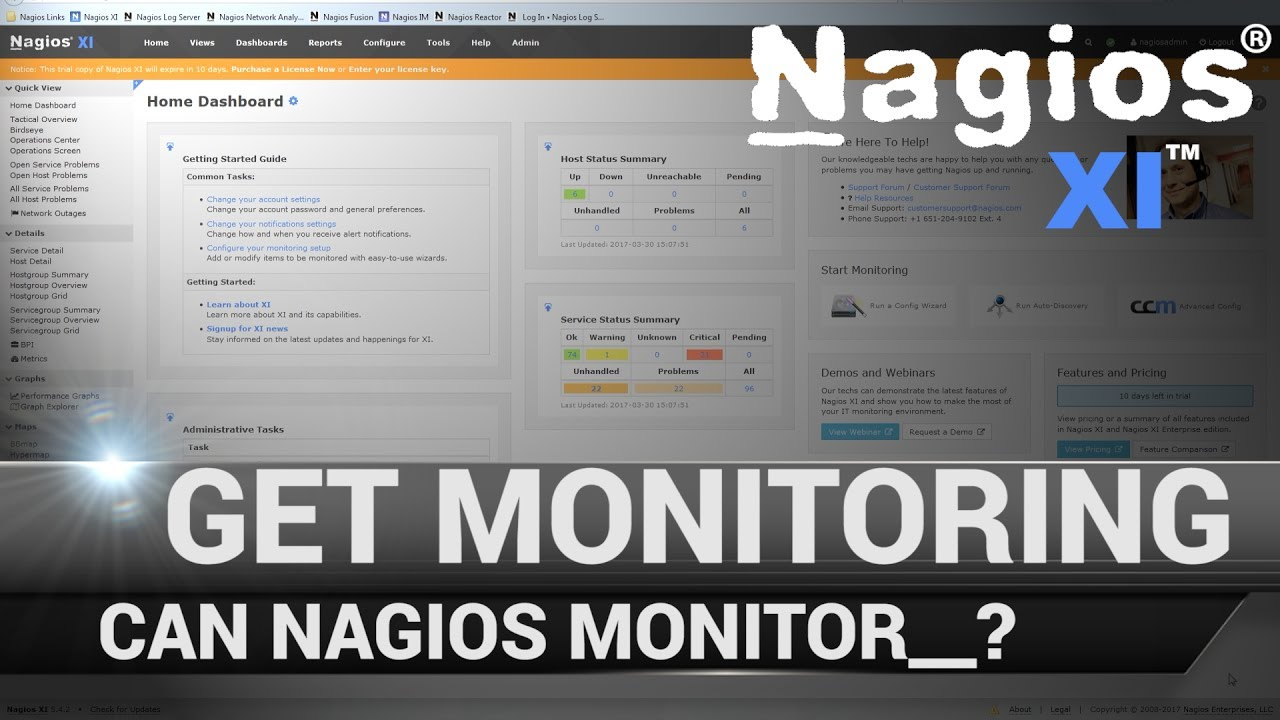 7. Nagios XI - Get Monitoring Tutorial - How to Manage Plugins - Dauer: 4 Minuten, 41 Sekunden