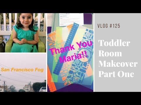 Vlog 125   Shared Toddler Room Makeover Part One   Pampered Chef Package