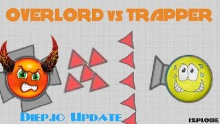 DIEP.IO TRAPPER vs OVERLORD // New Update // FUNNY MOMENTS!