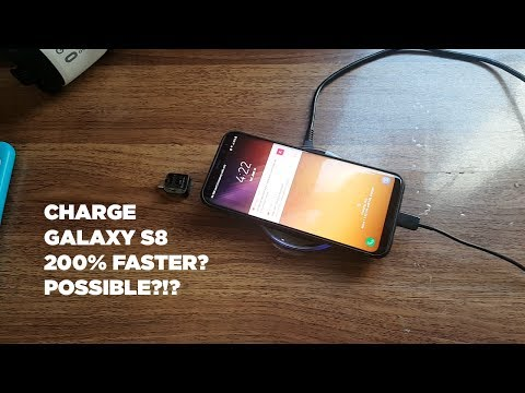 Galaxy S8 Charge FASTER with Cable Charger AND Wireless Charger At The Same Time?