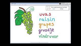 Hvordan man tegner en flok druer til børnehaveremier