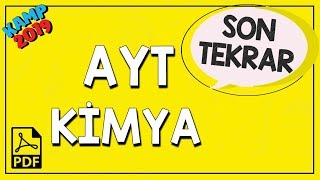 AYT Kimya Son Tekrar | Kamp2019