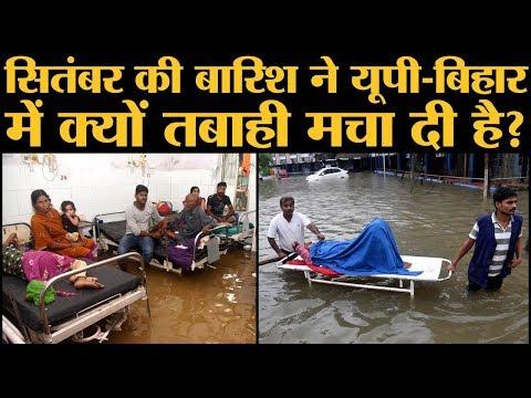 Monsoon की बारिश का  Bihar और UP के जिलों में सबसे ज्यादा असर पड़ा है.
