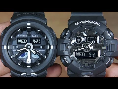 e4c02409e3c CASIO G-SHOCK GA-500-1A VS G-SHOCK GA-710-1A