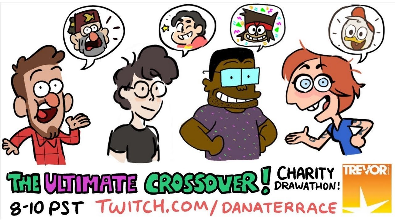 The Ultimate Crossover Charity Drawathon Youtube