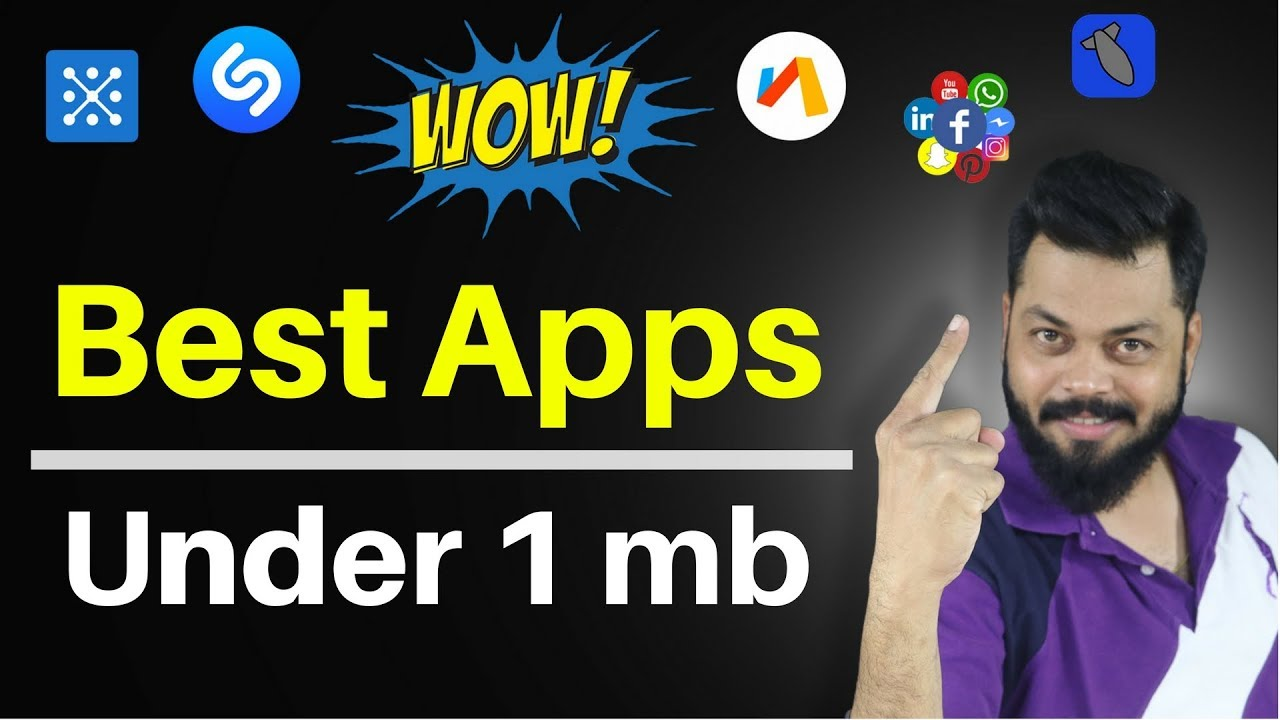 सबसे उपयोगी Android apps १ mb के नीचे  | 5 MOST USEFUL ANDROID APPS UNDER 1MB (2018)