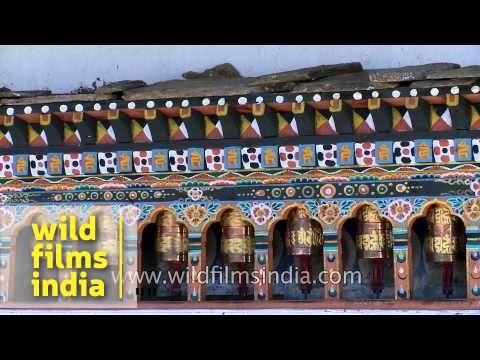 People visit Kyichu Lhakhang in Bhutan