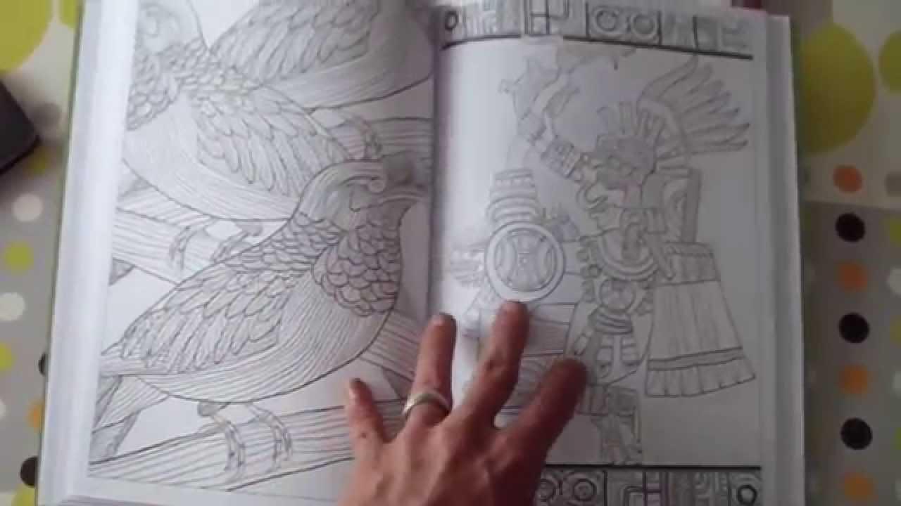 livre coloriage adulte mayas et azteques