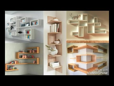 Wall decor ideas | book shelves | library almirah|wall decor furniture