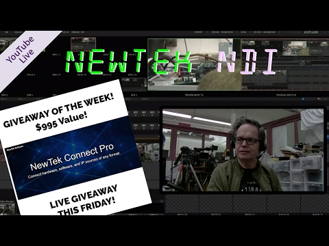 NewTek NDI - IP Camera Control & Color Grading