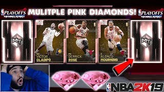 THROWBACK PLAYOFF MOMENTS PACK OPENING JUICED WITH MULTIPLE PINK DIAMONDS IN NBA 2K19 MYTEAM