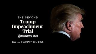 WATCH LIVE: Trump's second impeachment trial underway in Senate | Day 4