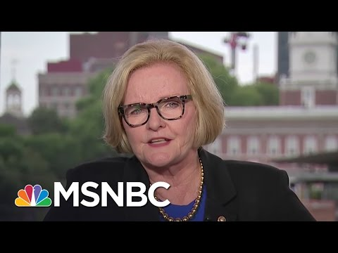 Claire McCaskill: Hillary Clinton Nom 'Emotional Moment' | Andrea Mitchell | MSNBC