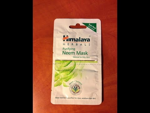 Himalaya herbals Neem face pack Turorial and review....