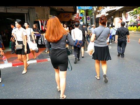 Silom Road Walk - Bangkok, Thailand 2017 HD