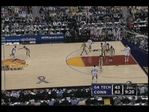 2004 NCAA Mens Basketball National Championship game UCONN vs Georgia Tech