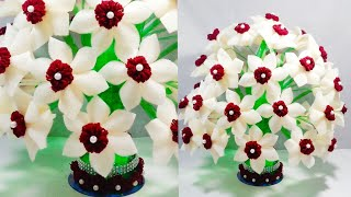 DIY FOAM GULDASTA/NEW DESIGN PLASTIC BOTTLE FLOWER POT/WOOLEN GULDASTA/VASE
