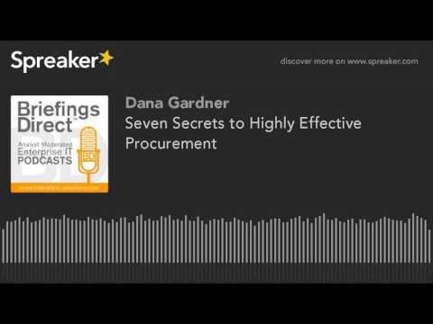 Seven Secrets to Highly Effective Procurement