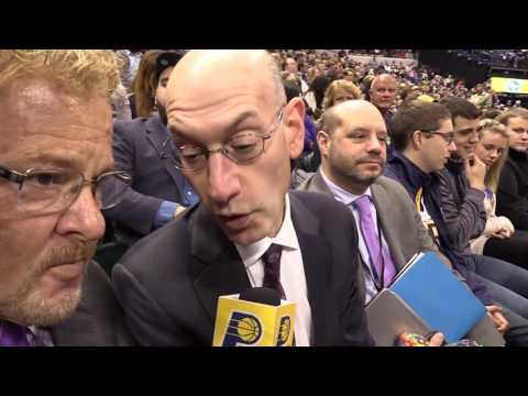 NBA Commissioner Adam Silver Visits Bankers Life Fieldhouse
