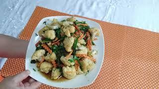 Түсті қырыққабат салаты # Салат из цветной капусты  Очень простой рецепт
