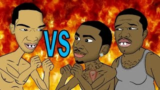 Lil B vs Ice JJ Fish & 50 Tyson (HHB Cartoon Parody)