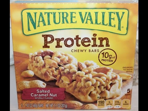 Nature Valley Protein Salted Caramel Nut Bar Review Youtube