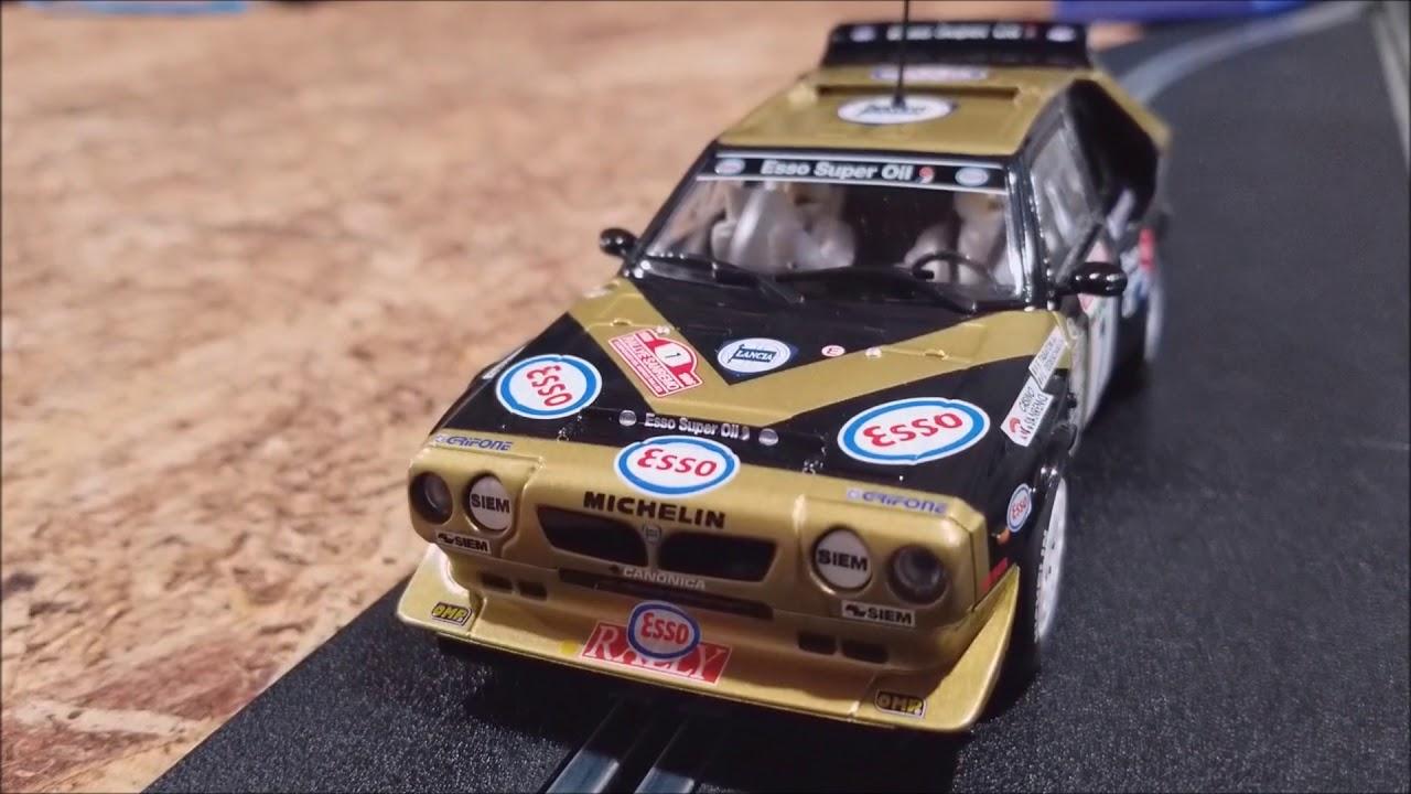 scalextric lancia delta s4 c3490 1/32 slot car - youtube