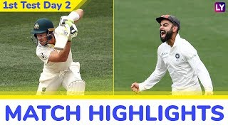 IND vs AUS 1st Test 2018 Day 2 Highlights: Travis Head Fifty Helps Australia Recover