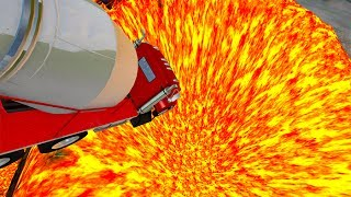 Jumping In Volcano #5  BeamNG.drive