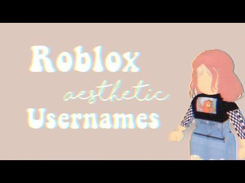 roblox aesthetic usernames