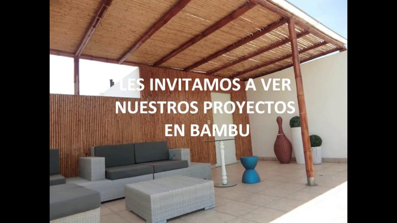 Techos de Bambu Construccin con bambu  YouTube