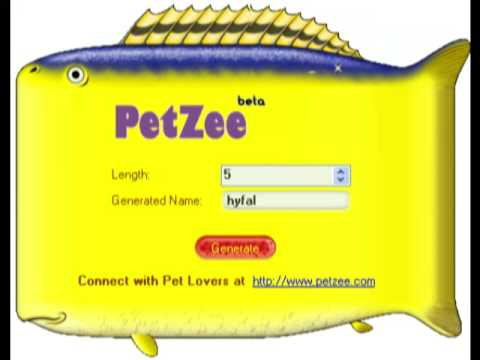 Get funny exotic unique clever pet names for your pet for Clever fish names