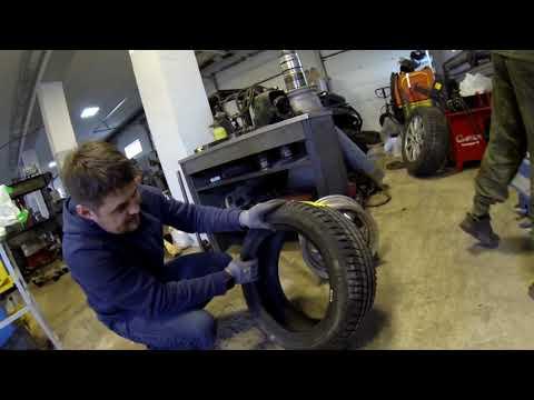 Подготовка колес для спортивного москвича 412 MCGP
